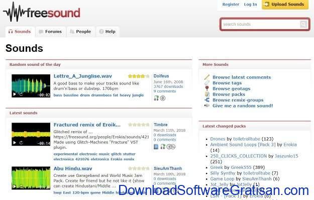 Situs Terbaik untuk Download Efek Suara atau Sound Effects Gratis FreeSound org