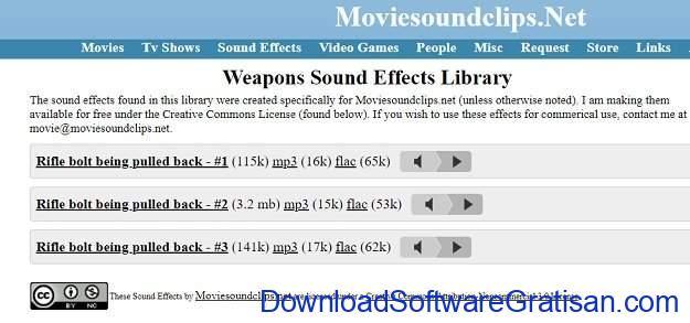 Situs Terbaik untuk Download Efek Suara atau Sound Effects Gratis Movie Sound Clips