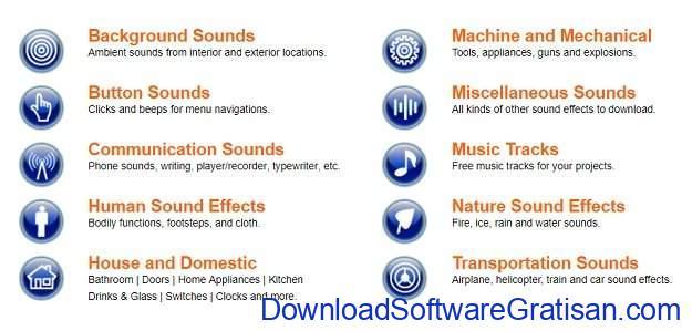 Situs Terbaik untuk Download Efek Suara atau Sound Effects Gratis Sound Jay