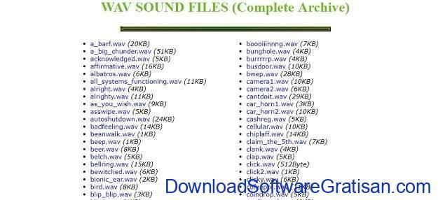Situs Terbaik untuk Download Efek Suara atau Sound Effects Gratis Wav Sound Files