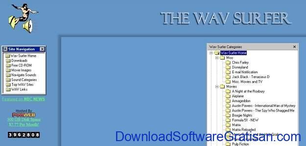 Situs Terbaik untuk Download Efek Suara atau Sound Effects Gratis Wav Surfer