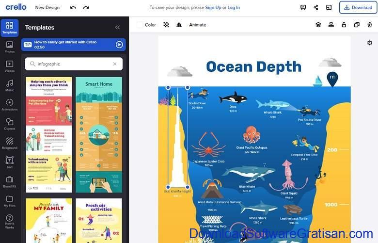 Situs Terbaik untuk Membuat Infografis Gratis Secara Online Crello