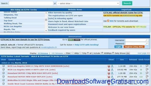 Situs Torrent Terbaik EZTV