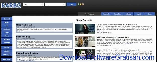 Situs Torrent Terbaik Rarbg