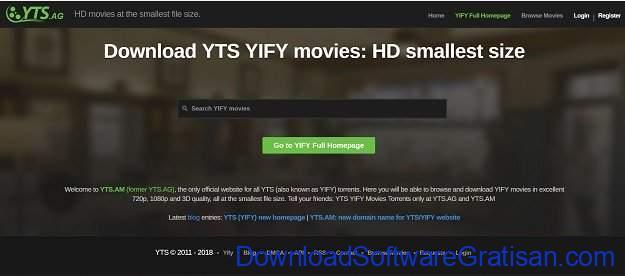 Situs Torrent Terbaik YTS