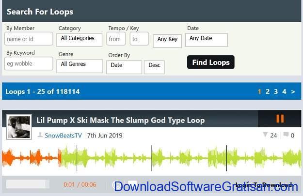Situs download sampel musik gratis terbaik LooperMan