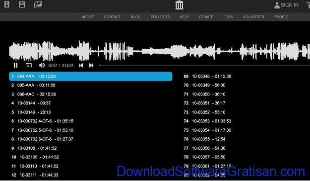 Situs download sampel musik gratis terbaik NASA Audio Collection