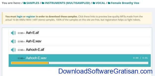 Situs download sampel musik gratis terbaik SampleSwap