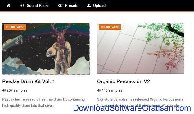 Situs download sampel musik gratis terbaik SoundPacks
