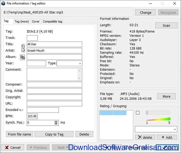TagComplete Aplikasi Gratis untuk Menandai Lagu Secara Otomatis - SS4