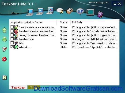 Taskbar Hide Alat Gratis untuk Menyembunyikan Jendela Aplikasi, Tombol Start, Taskbar dan Tray