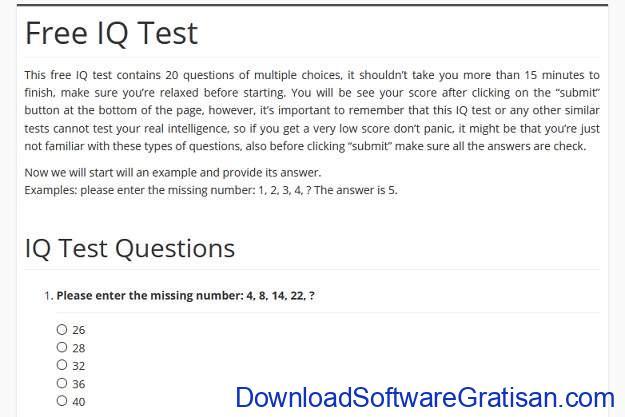 Tes IQ Online Gratis Terbaik - Tes IQ Gratis Brain Metrix