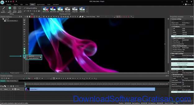 Visualisator Musik Terbaik - VSDC Video Editor Free