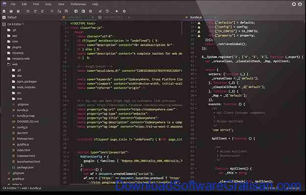 Web editor online terbaik Codeanywhere