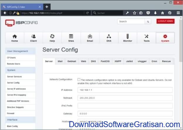 Web hosting control panel gratis alternatif cPanel ISPConfig 3 CP