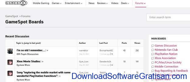 Website Obrolan & Forum Terpopuler di Dunia - GamesSpot
