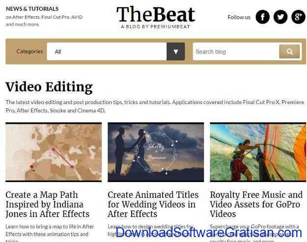 Website Terbaik Belajar Editing Video Secara Gratis PremiumBeat