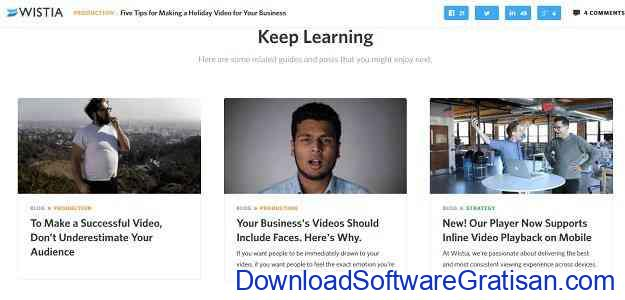 Website Terbaik Belajar Editing Video Secara Gratis wistia