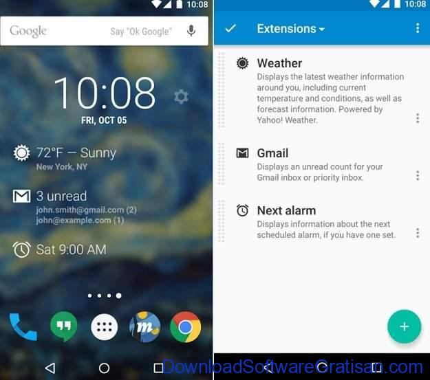 Widget Android Gratis Terbaik DashClock Widget