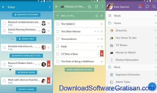 Widget Android Gratis Terbaik Wunderlist To-Do List & Tasks