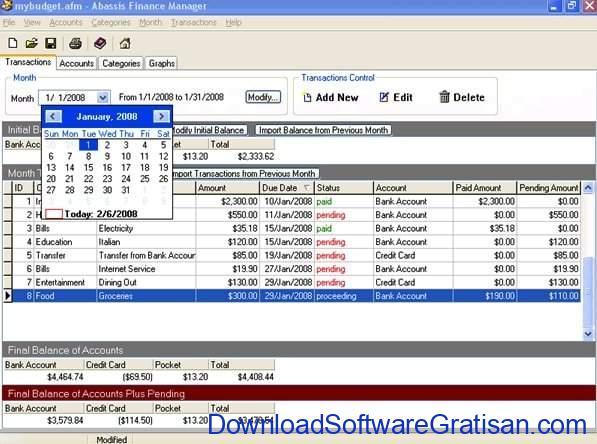 Aplikasi Manajemen Pengeluaran Gratis Terbaik Abassis Finance Manager