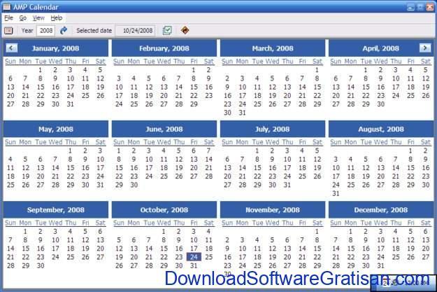 Aplikasi Kalender Gratis Terbaik untuk PC AMP Calendar