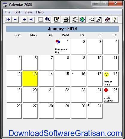 Aplikasi Kalender Gratis Terbaik untuk PC Calendar 2000