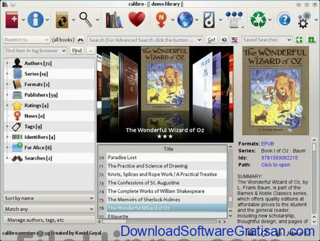 Aplikasi Pengelolaan Perpustakaan Gratis Terbaik calibre eBook Management