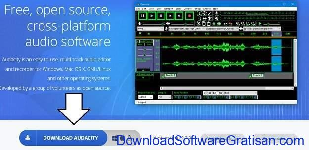 download audacity step 1