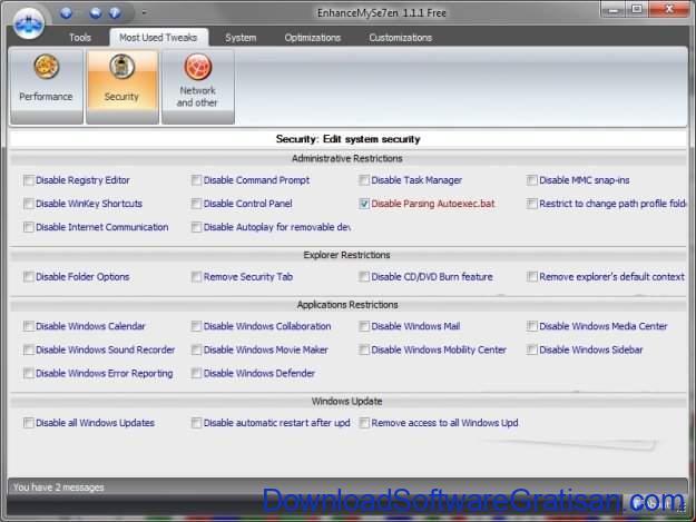 Aplikasi untuk Monitoring Performa PC Gratis EnhanceMySe7en Free