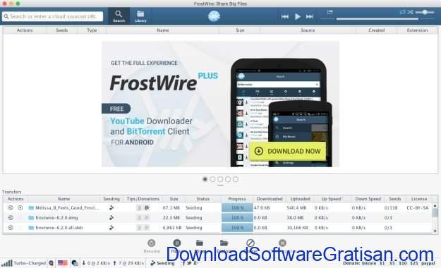 Aplikasi Peer-to-Peer (P2P) Gratis Terbaik untuk Sharing File FrostWire