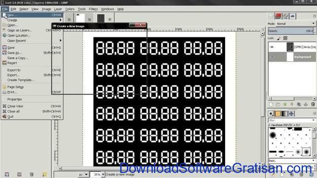 Aplikasi Gratis untuk Cetak Label pada PC GIMP