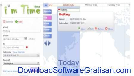 Aplikasi Kalender Gratis Terbaik untuk PC Im Time Calendar