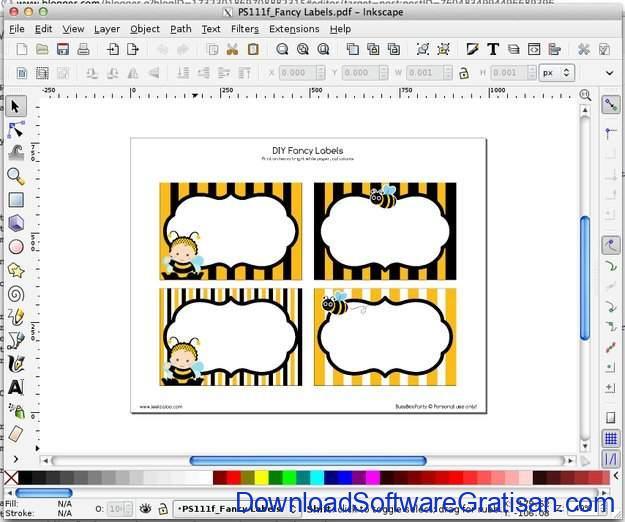 Aplikasi Gratis untuk Cetak Label pada PC Inkscape