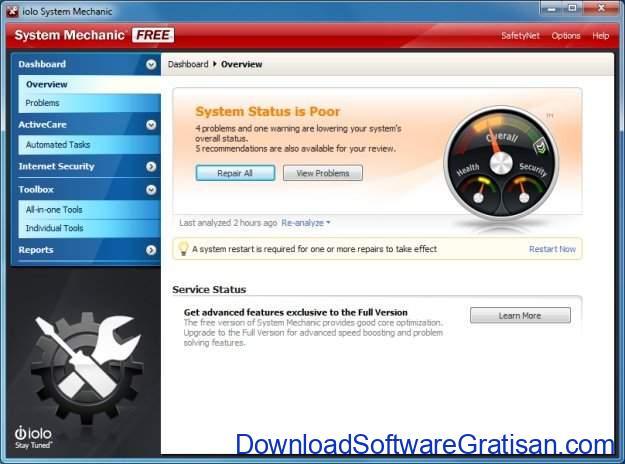Aplikasi untuk Optimasi PC Gratis Terbaik Iolo System Mechanic