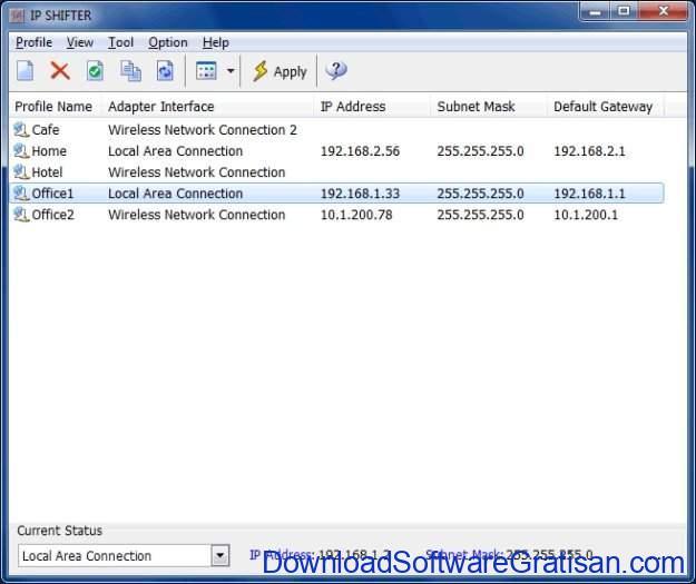 Aplikasi Gratis Terbaik Pengubah Alamat IP pada Windows IP SHIFTER