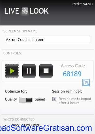 Aplikasi Screen Sharing Live Look SS
