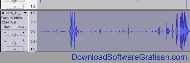 seleksi trek pada audacity