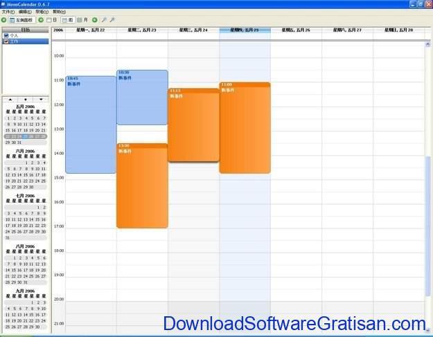 Aplikasi Kalender Gratis Terbaik untuk PC MonoCalendar
