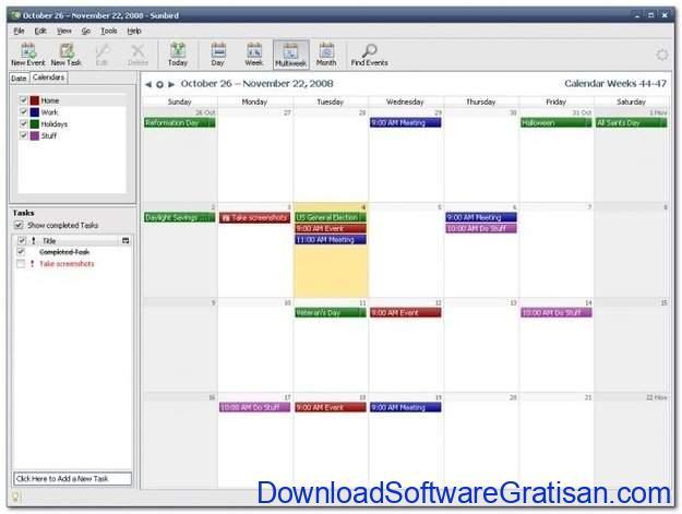 Aplikasi Kalender Gratis Terbaik untuk PC Mozilla Sunbird