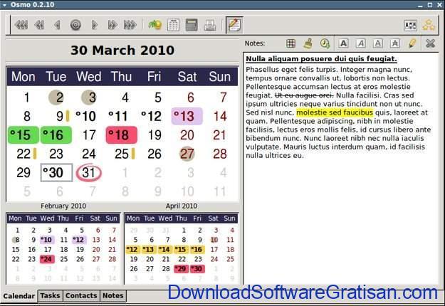 Aplikasi Kalender Gratis Terbaik untuk PC Osmo