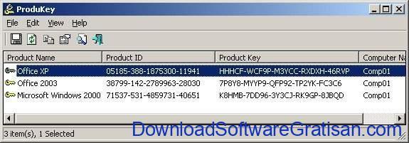 Aplikasi untuk Mencari Product Key di Windows ProduKey