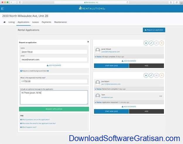 Aplikasi Online Manajemen Properti Gratis Terbaik Rentalutions