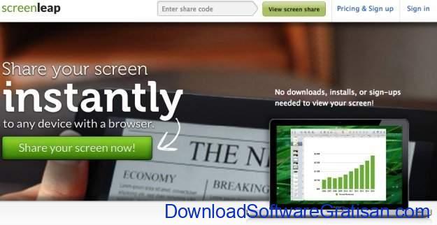 Aplikasi Screen Sharing ScreenLeap