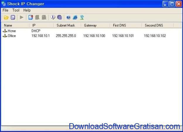 Aplikasi Gratis Terbaik Pengubah Alamat IP pada Windows shock IP changer