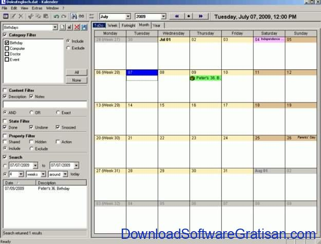 Aplikasi Kalender Gratis Terbaik untuk PC UK's Kalendar