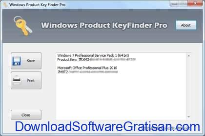 Aplikasi untuk Mencari Product Key di Windows Product Key Finder Pro