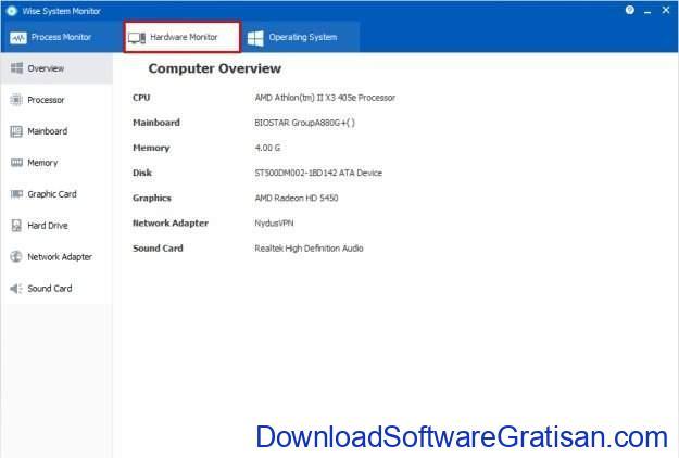 Aplikasi untuk Monitoring Performa PC Gratis Wise System Monitor