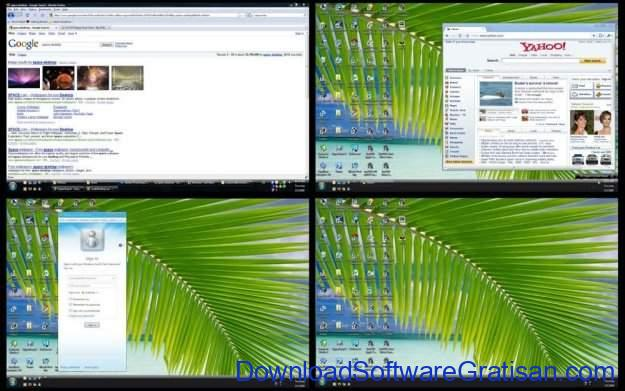 Aplikasi Multi Desktop Window Xilisoft Multiple Desktops