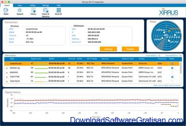 Aplikasi Monitoring & Analisis Jaringan untuk Sysadmin Xirrus Wi-Fi Inspector